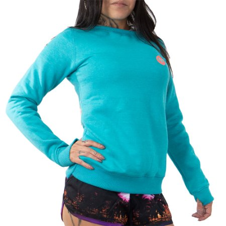 Moletom Roxy Careca Flanelado Good Vibrat Azul