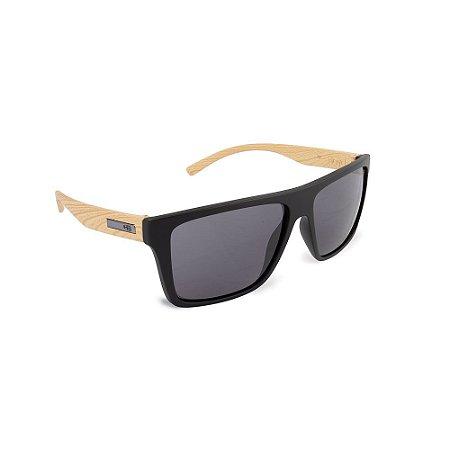 Óculos HB Floyd Matte Black Woody/Gray