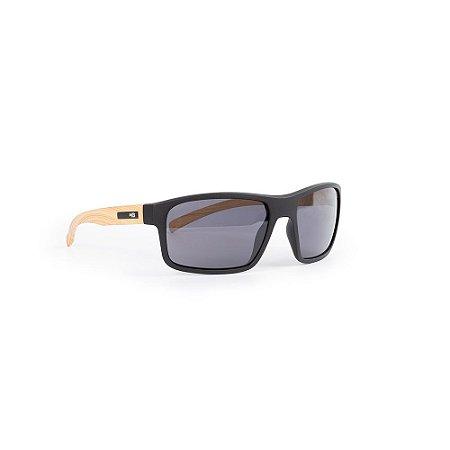 Óculos HB Overkill Matte Black Wood/Gray