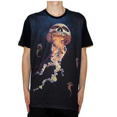 Camiseta Okdok Jellyfish Preto/Color