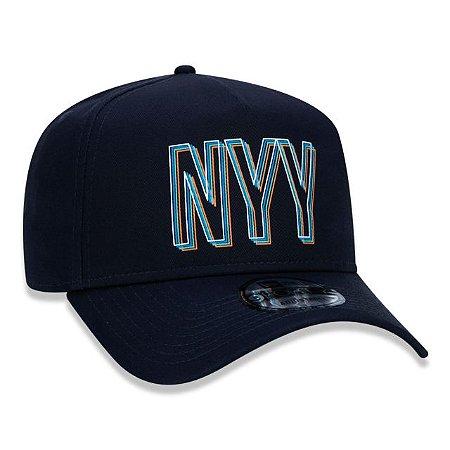 Boné New Era 940 MLB New York Yankees A-Frame Outline Dimension Marinho