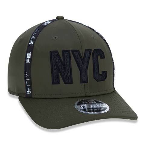 Boné New Era 950 NYC New York City Stretch Snap Utilitary Verde