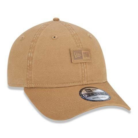 Boné New Era 940 Strapback Patch New Era Branded Kaki
