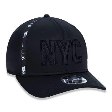 Boné New Era 950 NYC New York City Stretch Snap Preto