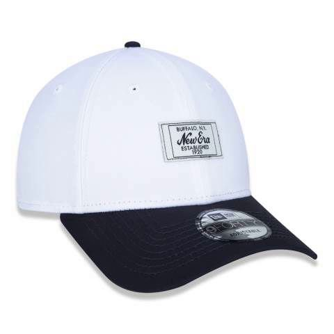 Boné New Era 940 NY Buffalo Fashion Branded Off-White/Preto