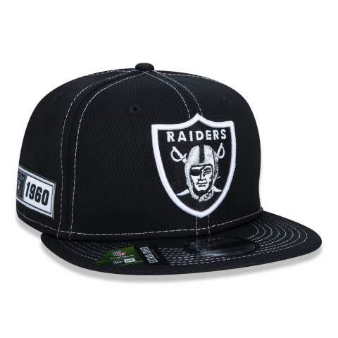 Boné New Era 950 NFL Oakland Raiders On-field Sideline Preto