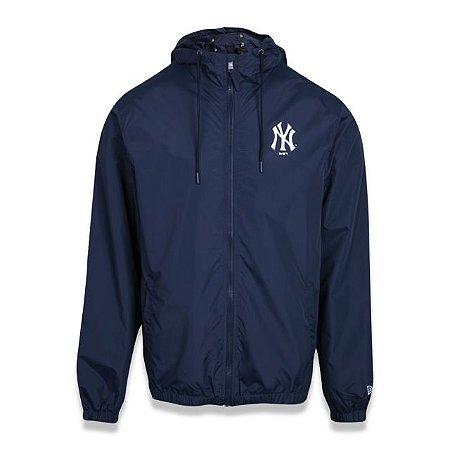 Jaqueta New Era Corta Vento MLB New York Yankees Azul Marinho