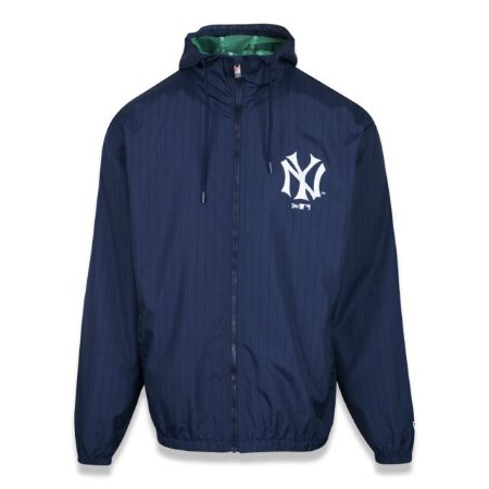 Jaqueta New Era Corta Vento MLB New York Yankees Azul Tamanho Grande