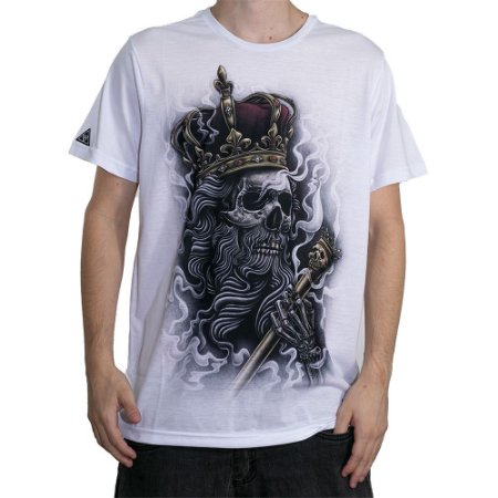 Camiseta Okdok Skull Kings Branco