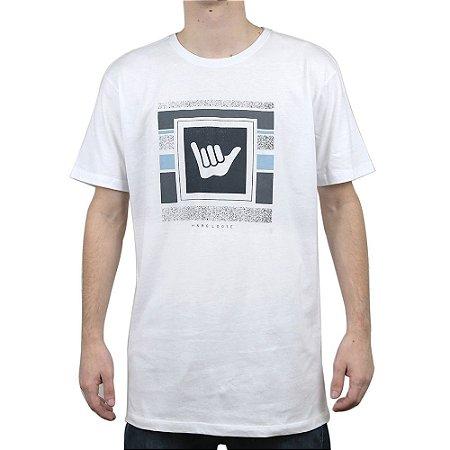 Camiseta Hang Loose Logo Stripe Branco