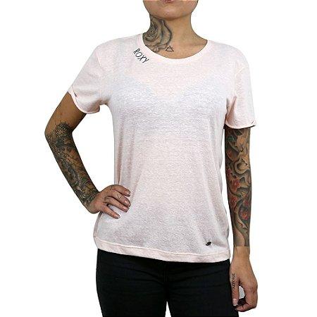 Camiseta Roxy Manga Curta Happiness Rosê
