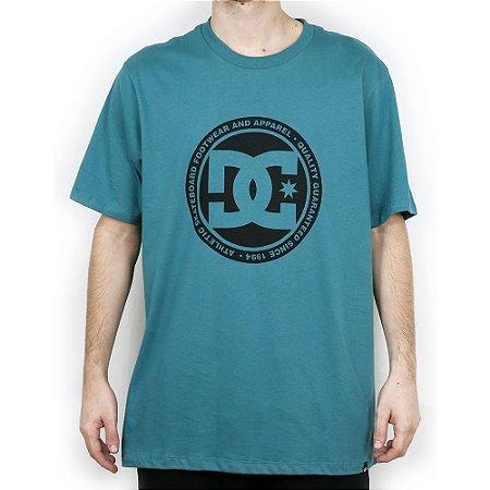 Camiseta DC Básica Circle Black Azul