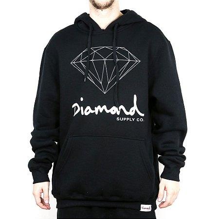 Moletom Diamond Canguru Fechado Og Sign Hoodie Black