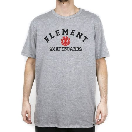 Camiseta Element Básica For Life Cinza Mescla