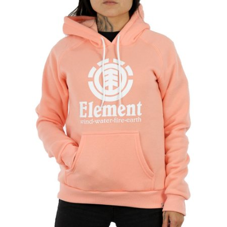 Moletom Element Canguru Fechado Vertical Oli Rosa