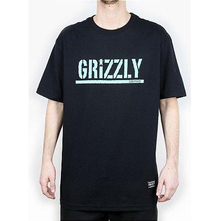 Camiseta Grizzly Básica Stamped Black
