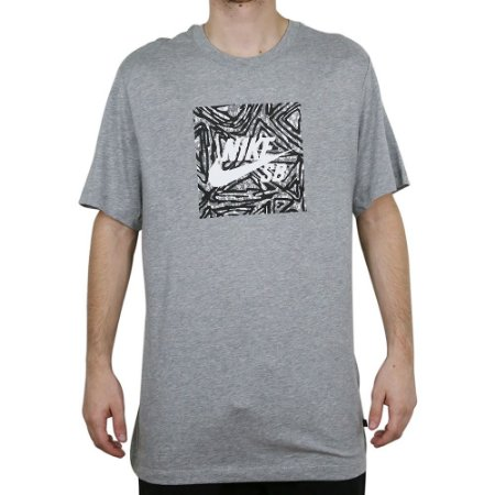 Camiseta Nike SB Básica Triangle Gray