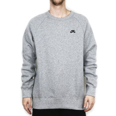 Moletom Nike SB Careca Icon Crew Fleece Mixed Gray