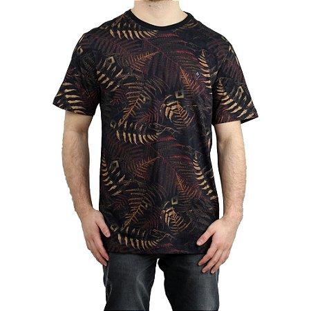 Camiseta MCD Especial Full Dark Fern Preto/ Vermelho