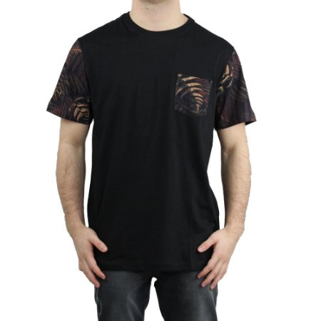 Camiseta MCD Especial Pocket Dark Fern Preto/ Vermelho