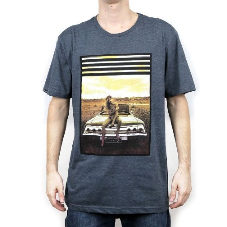 Camiseta Rusty Backest Preto Mescla