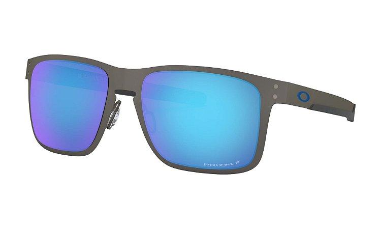 Óculos Oakley Holbrook Metal Matte Gunmetal Prizm Sapphire Polarized