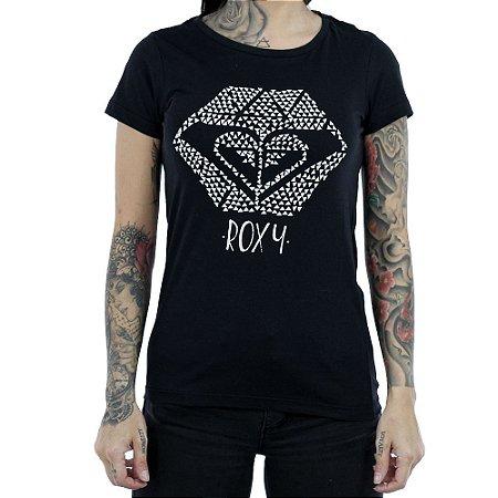 Camiseta Roxy Manga Curta You Rock Preto