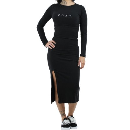 Vestido Roxy Longo Super Slim Preto