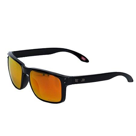 Óculos Oakley Holbrook Polished Black Prizm Rubi Polarized