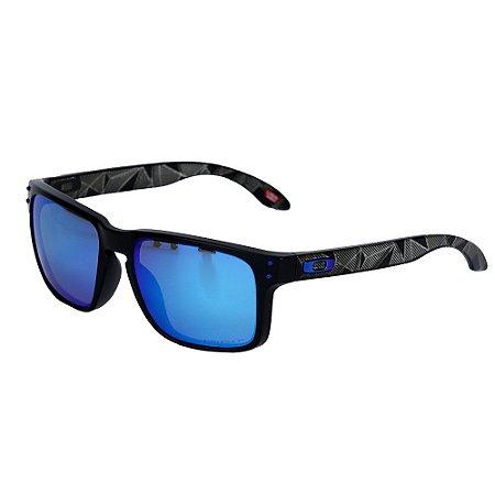 Óculos Oakley Holbrook Matte Black Prizmatic Prizm Sapphire Polarized
