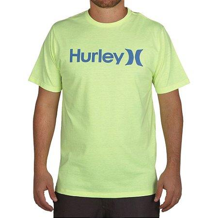 Camiseta Hurley Silk O&O Solid Amarelo Neon