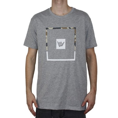 Camiseta Hang Loose Silk Bush Mescla Cinza