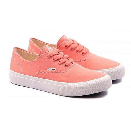 Tênis Mary Jane Venice Peach Pink
