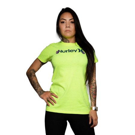 Camiseta Hurley One & Only Amarelo Neon