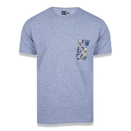 Camiseta New Era Plaid Cap Mescla Cinza