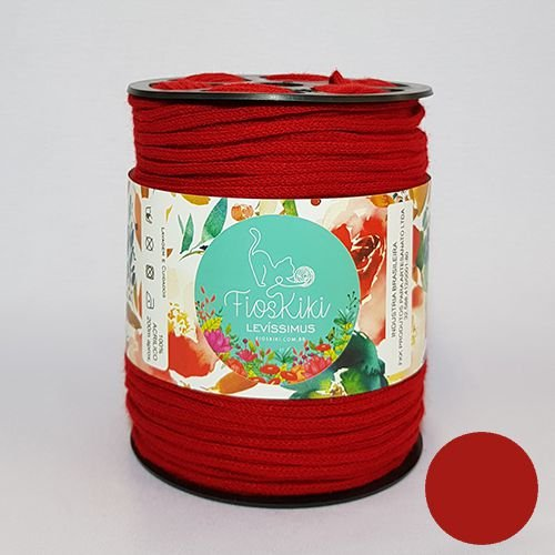 Fios Kiki - LEVISSIMUS - Vermelho Escarlate - 200m/230gr