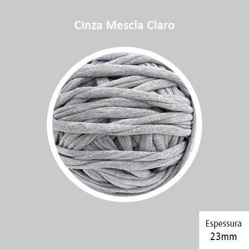 Outlet - Fio de Malha Premium 23mm -Cinza Mescla Claro - 480gr