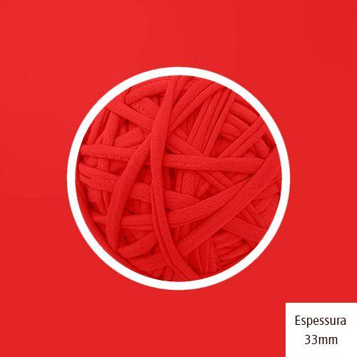 Outlet - Fio de Malha Premium 33mm - Vermelho Branca de Neve - 348gr