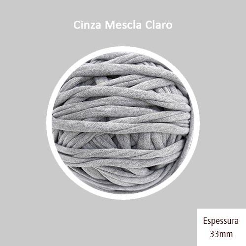 Outlet - Fio de Malha Premium 33mm - Cinza Mescla Claro - 468gr