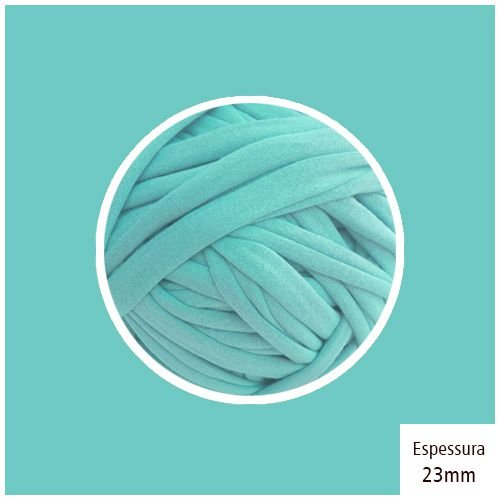 Outlet - Fio de Malha Premium 23mm - Azul Tiffany - 376gr