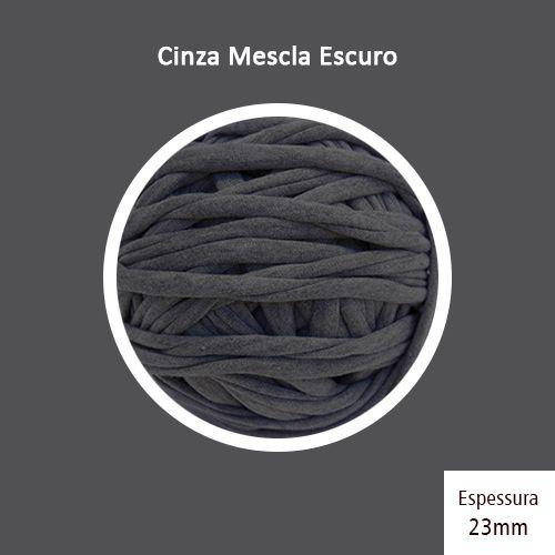 Outlet - Fio de Malha Premium 23mm - Cinza Mescla Escuro - 486gr