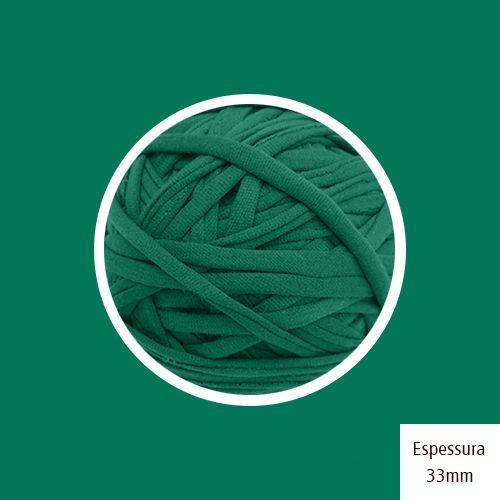 Outlet - Fio de Malha Premium 33mm - Verde Folha Brilhante - 306gr