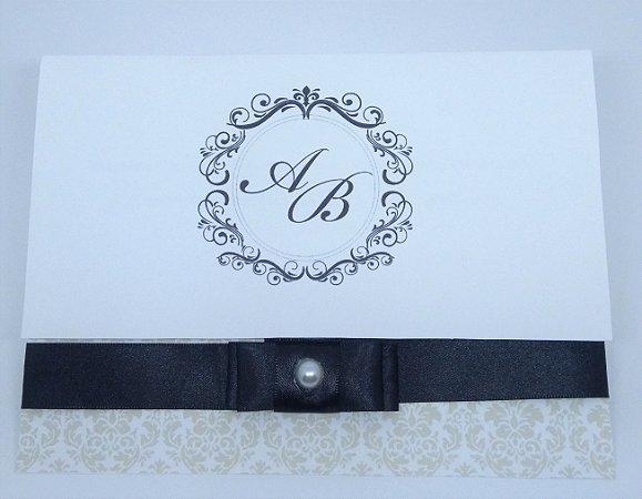 Convite Casamento com monograma (50 und.)