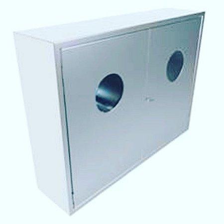 Caixa de Incêndio  Sobrepor Duplo GILINOX LUXO 2 Portas A)90 x (L)20 x (P)30cm