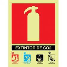Placa Fotoluminescente De Sinalização Para Extintores - Extintor De CO2