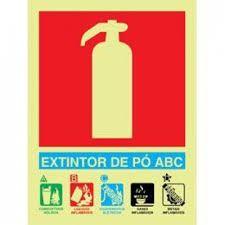 Placa Fotoluminescente De Sinalização Para  Extintores - Extintor De Pó BC