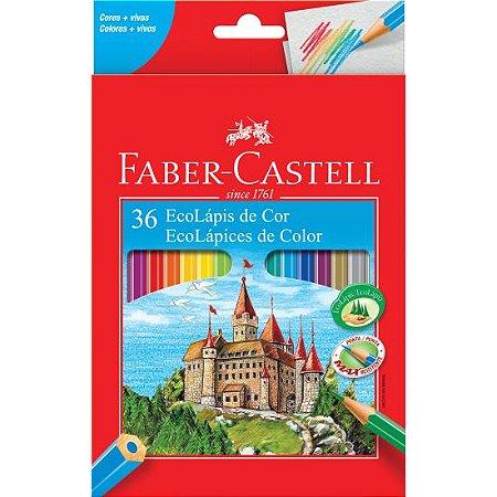 Lápis De Cor Sextavado Faber Castell Com 36 Cores