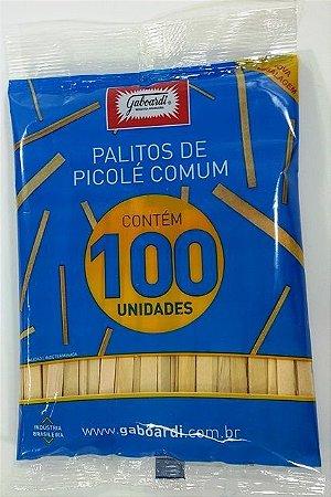 PALITO DE PICOLE GABOARDI PONTA QUAD. PCT C/100