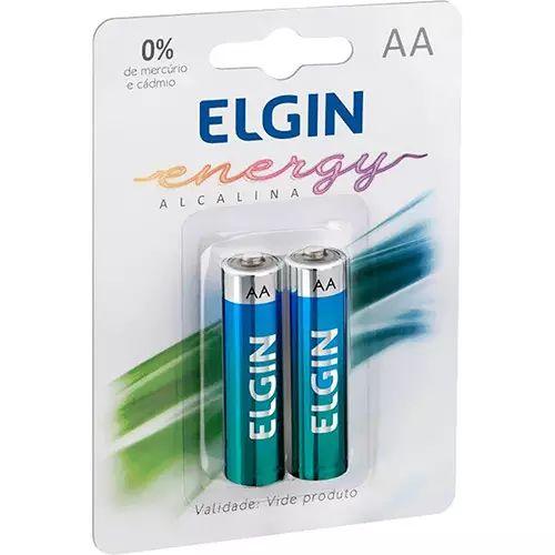 Pilha Alcalina AA  Blister c/2  - Elgin Pilha Alcalina AA Blister c/2 - Elgin