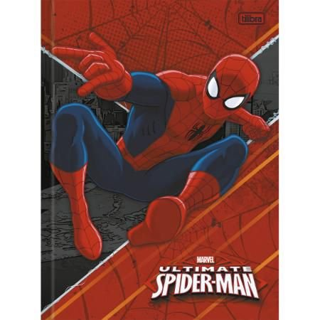 Caderno Brochura Capa Dura Top Universitário Spider-Man 48 Fls